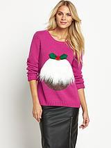 Furry Pudding Xmas Jumper