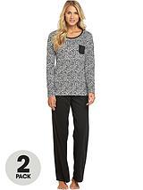 Long Sleeve Pyjamas (2 Pack)