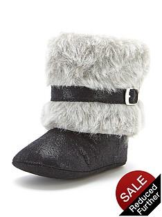 ladybird-angelique-faux-fur-cuff-pram-boots