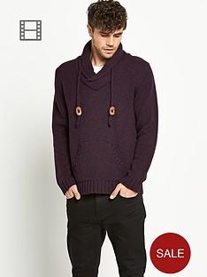 shawl-neck-hooded-knit