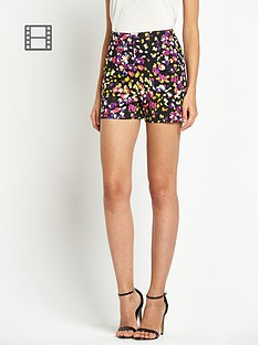 love-label-printed-scuba-shorts
