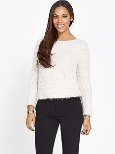 rochelle-humes-crop-knit-jumper
