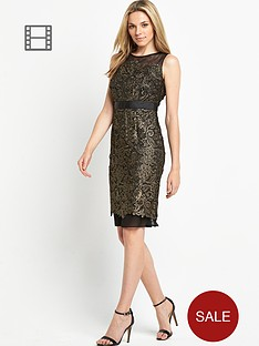 savoir-gold-guipure-lace-dress