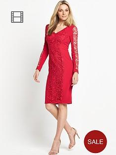 savoir-lace-panel-dress