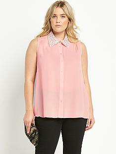 So Fabulous Diamante Embellished Sheer Blouse 117