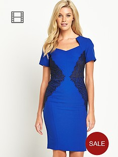 south-petite-lace-panel-cap-sleeved-dress