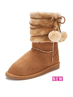 girls-autumn-pom-pom-snug-boot