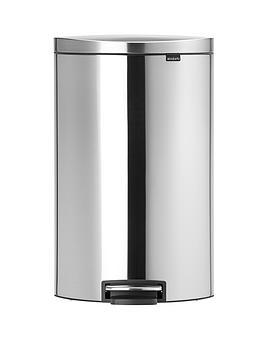 brabantia-fingerprint-proof-40-litre-flat-back-pedal-bin-matt-steel