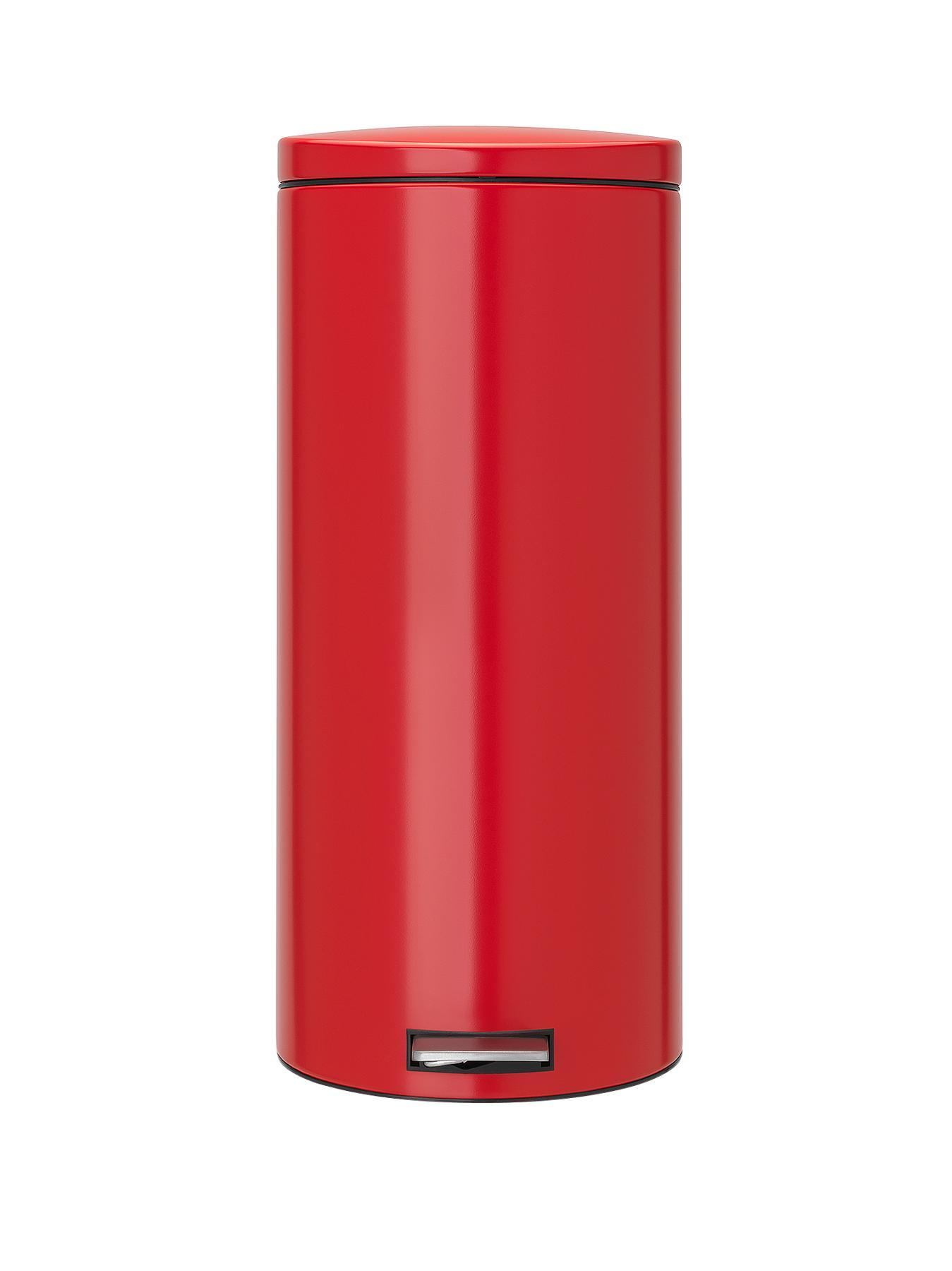 Brabantia 30-Litre Motion Control Pedal Bin - Red