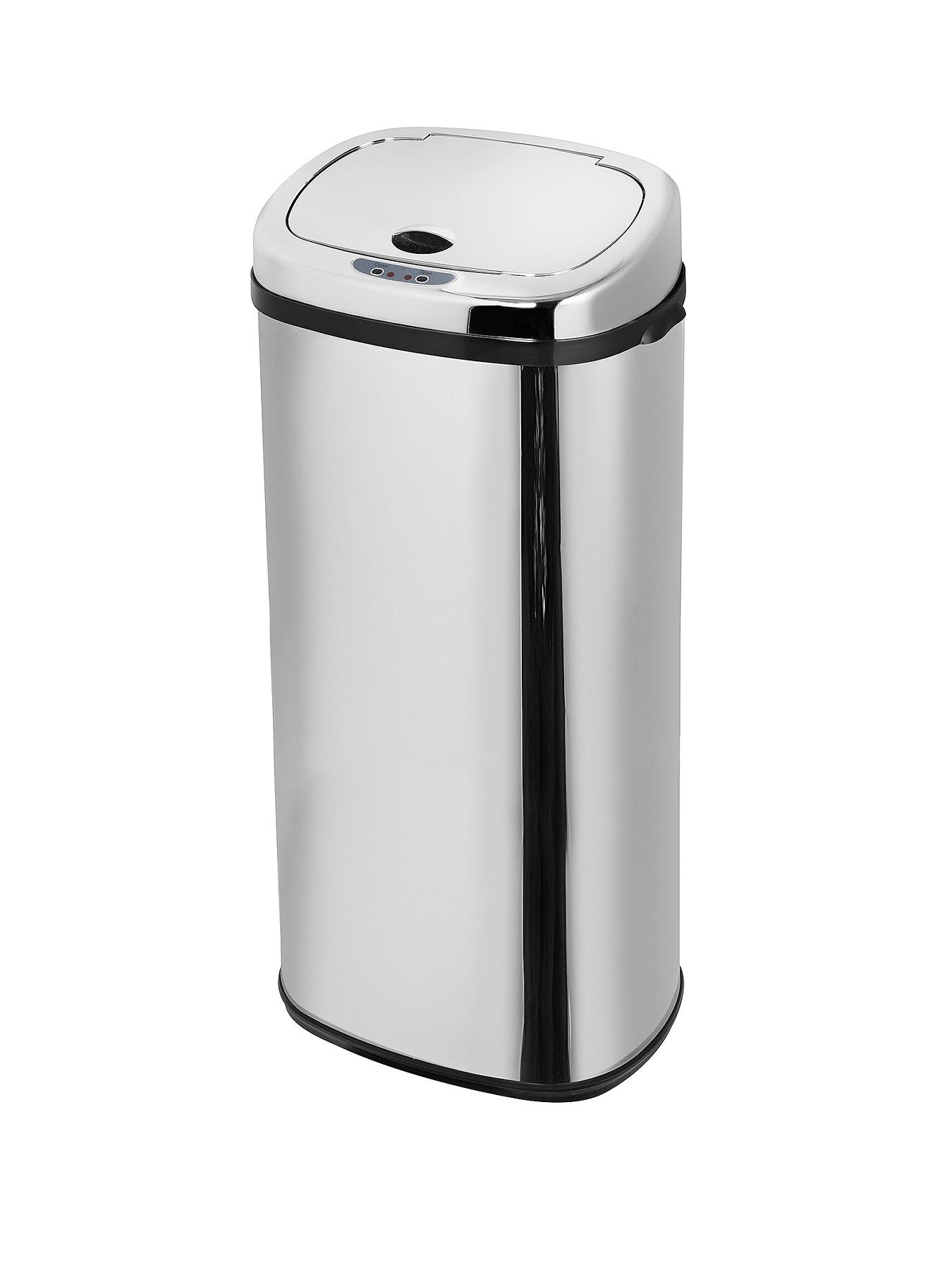 Morphy Richards 50-Litre Square Sensor Bin - Stainless Steel