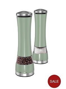 morphy-richards-electronic-salt-and-pepper-mill-set-sage