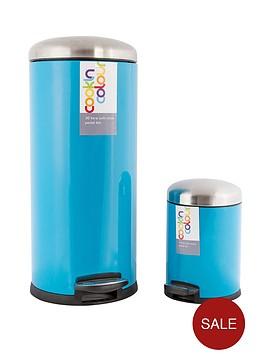 30-litre-and-5-litre-soft-close-pedal-bins-blue