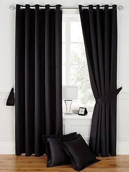 Plain Dye Satin Eyelet Curtains