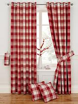 Woven Check Eyelet Curtains