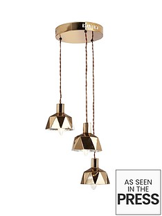 geo-cluster-ceiling-light