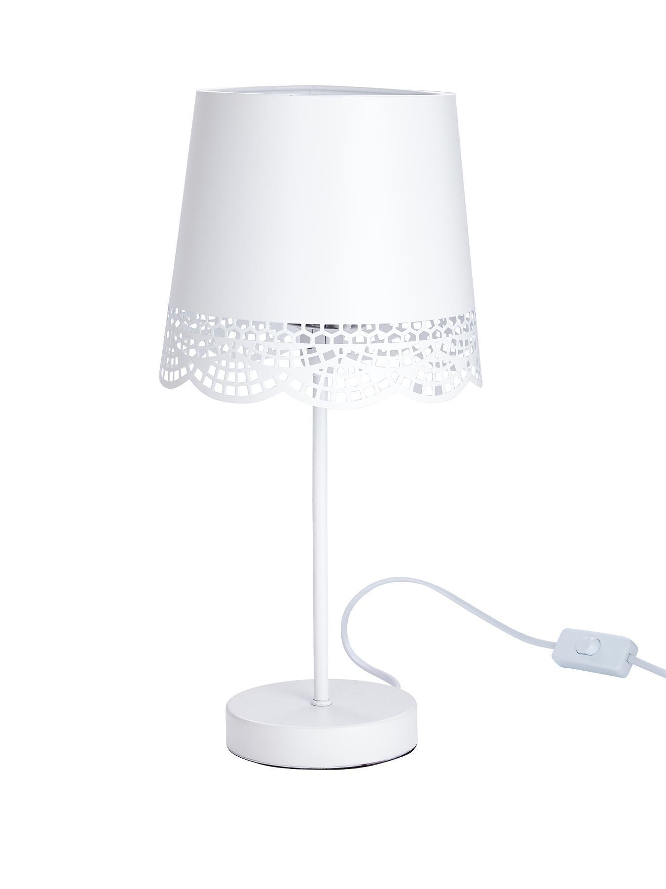 Layla Table Lamp - White, White