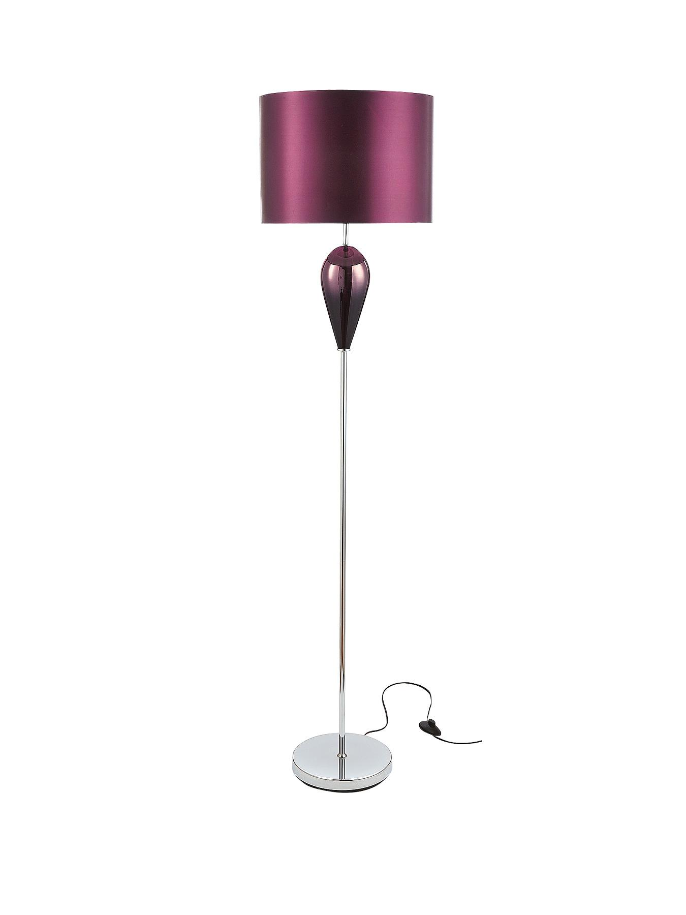 Madrid Floor Lamp - Plum, Plum,Black