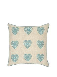 catherine-lansfield-vintage-hearts-cushion-duck-egg
