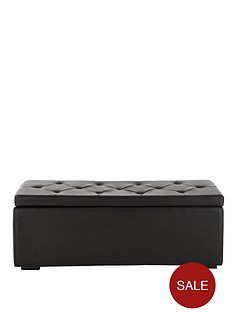mandalay-faux-leather-ottoman