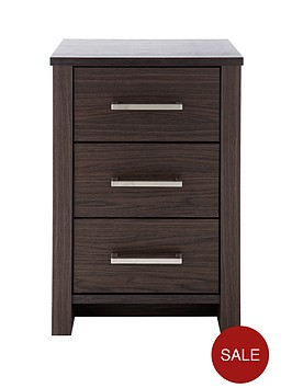 consort-denver-ready-assembled-3-drawer-bedside-cabinet