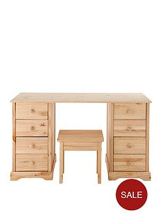 baltic-solid-pine-dressing-table-and-stool-set