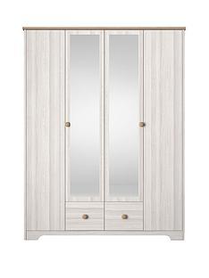 windsor-4-door-2-drawer-mirrored-wardrobe