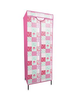 printed-patchwork-fabric-covered-kids-wardrobe