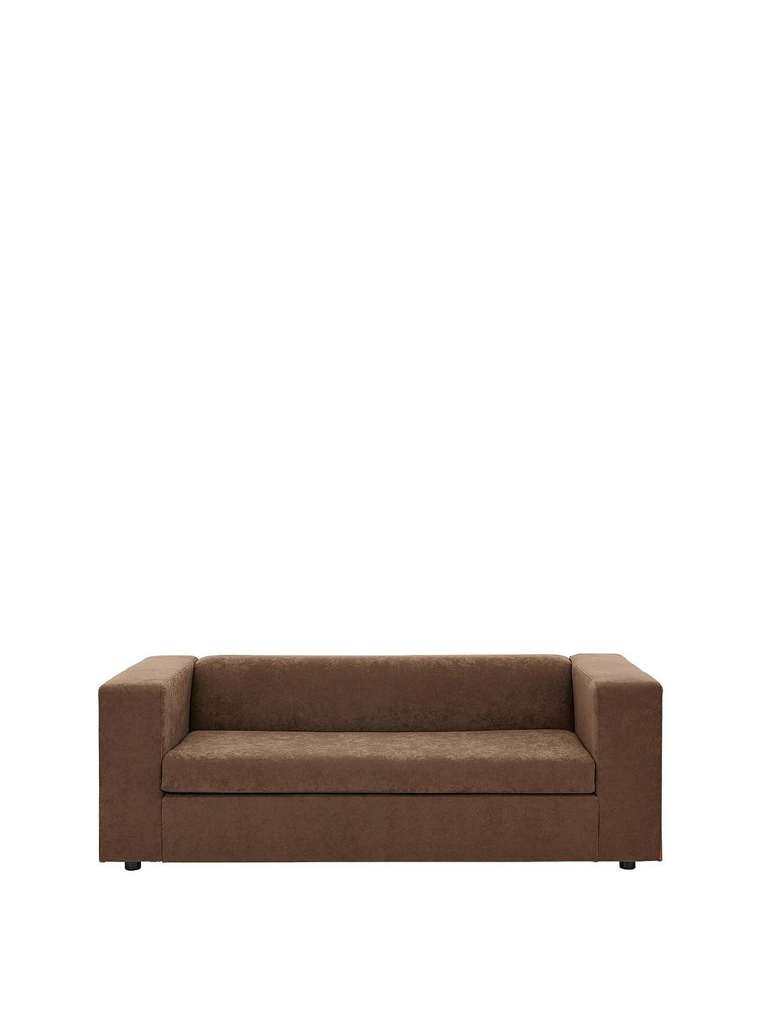 Clarke faux suede sofa bed for Sofa bed very