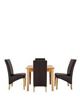 Balmoral small solid extending dining table 4 chairs for Very small dining sets