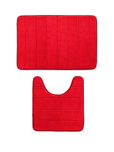 stripe-memory-foam-bathmat-and-pedestal-set-2-piece-set