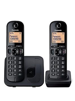 Panasonic Tgc-212Eb Cordless Telephone With Nuisance Call Block - Twin