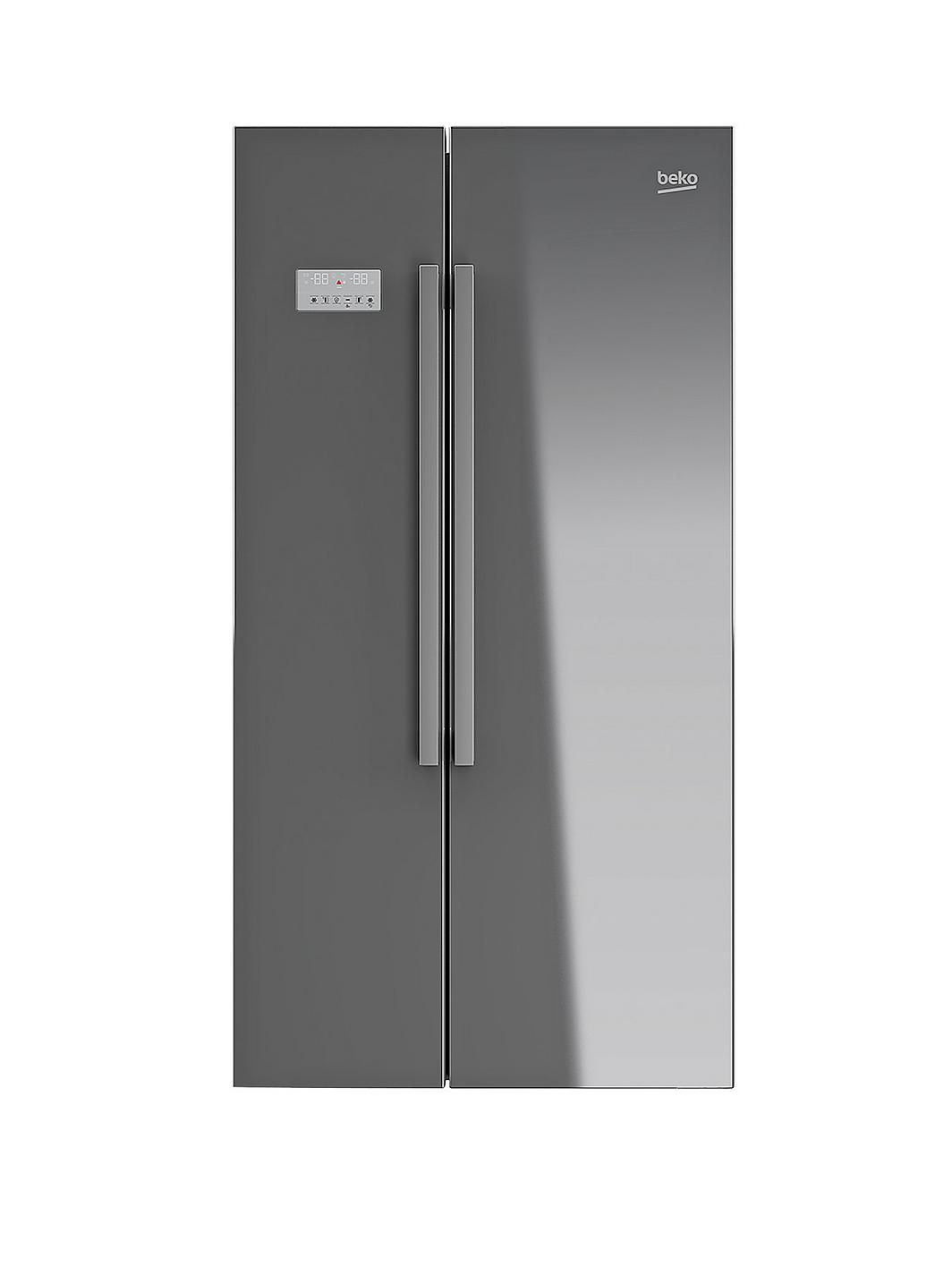 beko asl141s usa style fridge freezer silver. Black Bedroom Furniture Sets. Home Design Ideas