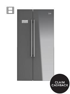 beko-asl141s-usa-style-fridge-freezer-silver