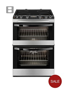 zanussi-zcv68300xa-60-cm-ceramic-electric-double-oven-stainless-steel