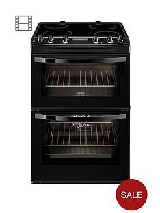 zanussi-zcv68300ba-60cm-ceramic-double-oven-electric-cooker-black