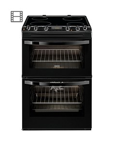 zanussi-zcv68300ba-60cm-ceramic-double-oven-electric-cooker-black