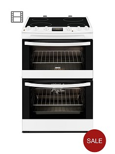 zanussi-zcv68300wa-60cm-ceramic-double-oven-electric-cooker-white