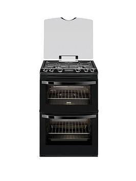 zanussi-zcg63200ba-60cm-double-oven-gas-cooker-black