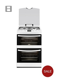 zanussi-zcg63200wa-60cm-double-oven-gas-cooker-white