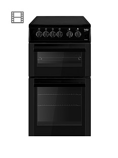 beko-bdc5422ak-50cm-freestanding-single-oven-electric-ceramic-cooker-black