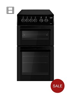 beko-bdc5422ak-50cm-single-oven-electric-ceramic-cooker-with-connection-black