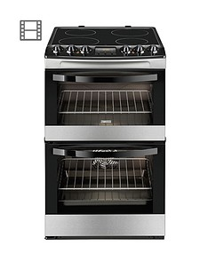 zanussi-zcv48300xa-55cm-ceramic-electric-double-oven-stainless-steel