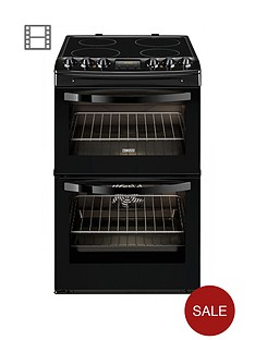 zanussi-zcv48300ba-55-cm-ceramic-electric-double-oven-black
