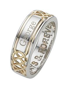keepsafe-sterling-silver-and-yellow-gold-plateed-mens-personalised-ring-with-inside-message-always-and-forever