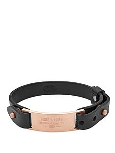 fossil-black-and-rose-gold-tone-mens-bracelet