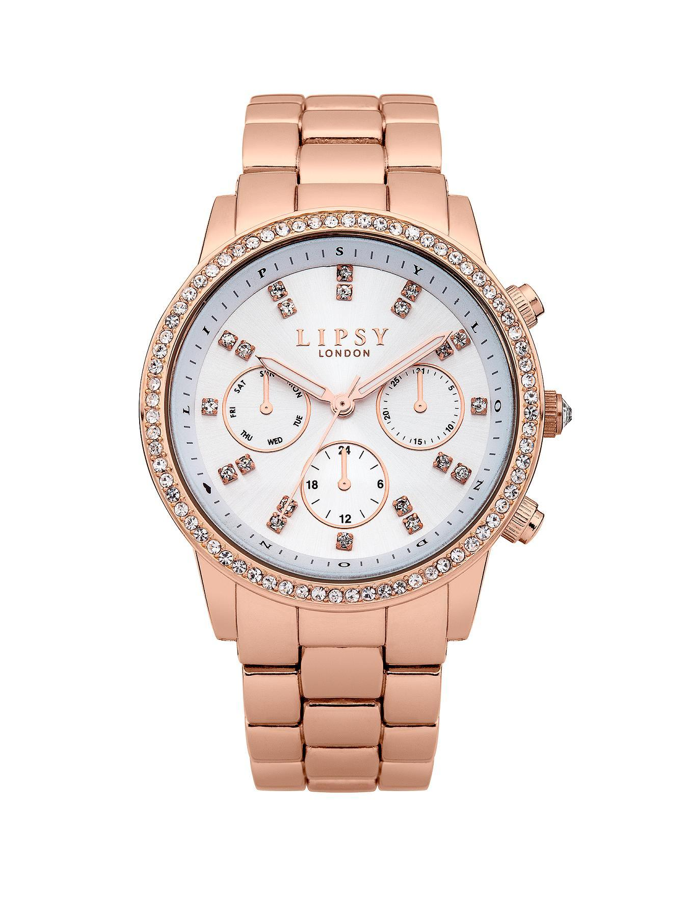 Lipsy Ladies Rose Gold Chronograph Bracelet Watch