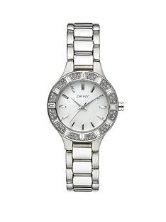 dkny-chambers-stone-set-bezel-round-white-mother-of-pearl-effect-dial-polished-stainless-steel-bracelet-ladies-watch