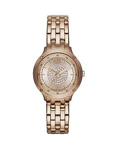 armani-exchange-rose-gold-dial-and-bracelet-ladies-watch