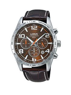 lorus-chronograph-on-stitched-brown-leather-strap-mens-watch