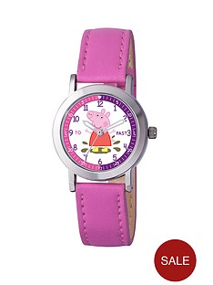 peppa-pig-time-teacher-pink-pu-strap-girls-watch